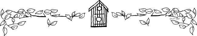 banner with bird house