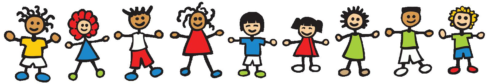 clipart of kids in line
